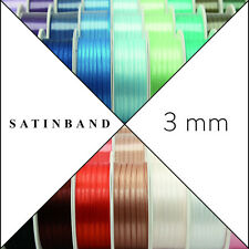 PREMIUM SATIN RIBBON 3mm x 50m ribbon Ribbon Wedding band Gift ribbon