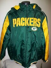GREEN BAY PACKERS Winter Jacket Parka Fleece Lining XL 3XL GREEN / YELLOW