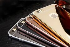 Luxury Aluminum Mirror Metal Back Ultra-thin Case Cover For Various Phone