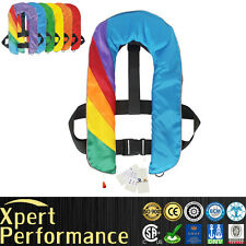 Top Quality Inflatable Life Jacket Life Vest Survival Aid PFD Rainbow Automatic