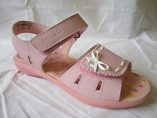 RICOSTA Girls Pink Leather Sandals With Bow