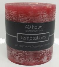 SALCO TEMPTATIONS FRAGRANCED PILLAR CANDLE 40 HOURS BURN TIME ( 2 FRAGRANCES)