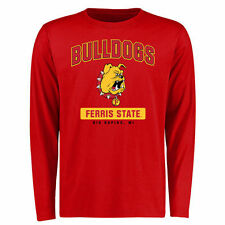 Ferris State Bulldogs Big & Tall Campus Icon Long Sleeve T-Shirt - Red - College