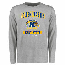 Men's Ash Kent State Golden Flashes Big & Tall Campus Icon Long Sleeve T-Shirt