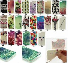 Paint Soft Silicone TPU Gel Case for Apple iPod Touch 5th 6th Gen Rubber Cover