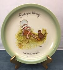 Count Your Blessings Not Troubles  Holly Hobbie Collectors Edition Plate Vintage