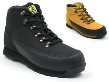MEN STEEL TOE CAP LIGHT WEIGHT LEATHER LACE-UP SAFETY WORK SHOE BOOTS SIZE 6-12