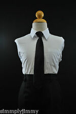 Solid Satin Clip on Long Neck Tie Black 11COLORS matching Boy suit 8 10 12 14
