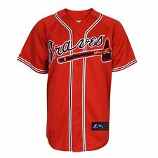 Atlanta Braves MAJESTIC Official MLB Alternate Red Replica Jersey YOUTH