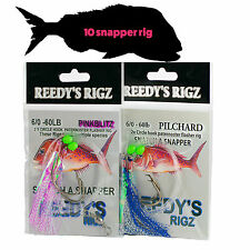 10 Fishing Rig Snapper Tied Flasher Rigs Lure Whiting Paternoster Running Float
