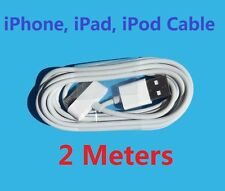 2M Long USB Data Sync Cable Charger Cord For iPhone4 iPhone4S iPhone3 iPhone 3GS