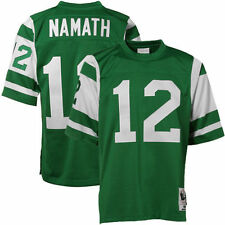 Mens New York Jets Joe Namath Mitchell & Ness Green Authentic Throwback Jersey