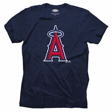 Los Angeles Angels Majestic Threads Mens Triblend Logo  T-Shirt - Navy
