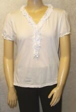 New Blue Seven women's Shirt im Crinklelook ruffle white Size 34 - 54