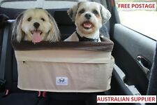 Large Dog Car Booster Seat - helps prevent car sickness, great for small dogs
