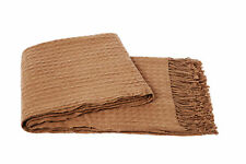 Cashmere Collection Waffle Weave Wool/Cashmere Blend Throw