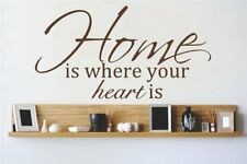 Design With Vinyl Home is Where the Heart is Wall Decal