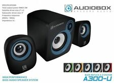 2.1 Computer Speakers USB Powered Bass Driver AudioBox Multiple colours