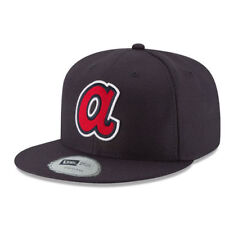Atlanta Braves New Era Youth Diamond Era 59FIFTY Fitted Hat - Navy - MLB