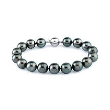 Radiance Pearl 14k Gold AAA-quality Tahitian South Sea Pearl Bracelet (9-10mm)
