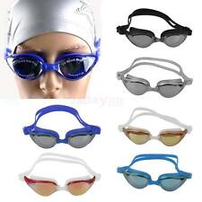 Anti fog UV Swimming Swim Goggle Adjustable Glasses Ear Plug Nose Clip with Case