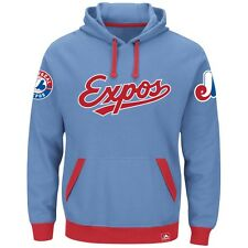 "Montreal Expos Majestic MLB ""Forever"" Cooperstown Hooded Sweatshirt"