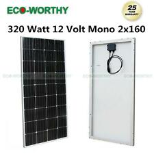 160W 300W 600W 800W 1200W 1600W Watts 12V Mono PV Solar Panel RV Boat Charger