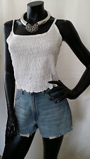 90s Style Cotton Vest Cami Fitted Crop Top Boobtube Summer Beach Boho Festival