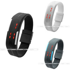 1pc Mens Womens Touch Screen LED Binary Digital Sports Silicone Wrist Watch Gift