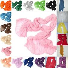 New Women Girl Soft Candy Colors Long Crinkle Scarf Wrap Voile Wraps Stole Shawl