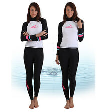 Fashion Women Scuba & Snorkeling Wetsuit Rash Guard Jump Surfing Surf Clothing