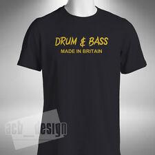Drum and Bass Made in Britain Mens T-Shirt Old Skool Retro Dance Jungle Goldie