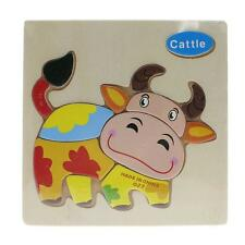 2016 New Wooden Cartoon Animal Pattern Intellectual Puzzles Kid Child Jigsaw Toy