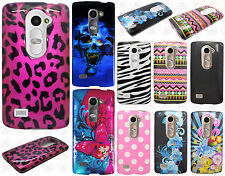 LG Destiny L21G HARD Protector Case Snap On Phone Cover Accessory +Screen Guard