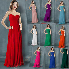 Hot Bridesmaid Dress Evening Formal Party Gown Ball Prom Dress Chiffon Size 6-16
