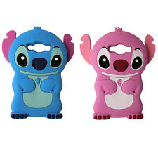 For Samsung Galaxy 3D Cartoon Blue Pink Stitch Soft Silicon Lovely Cute Case New