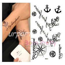 Temporary Waterproof Personality Anchor Helmsman Letter Pattern Tattoo Stickers