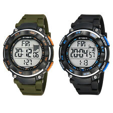 NEW LCD DIGITAL CHRONOGRAPH DATE DAY ALARM WATCHES MEN RUBBER SPORT QUARTZ WATCH