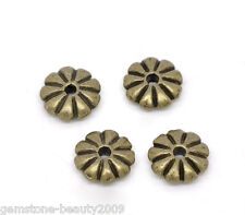 Wholesale HX Bronze Tone Flower Spacer Beads Findings 7x2mm