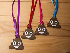 Emoji Mini Poop/Poo card gift tags/labels/favours/ 10-30 with ribbon