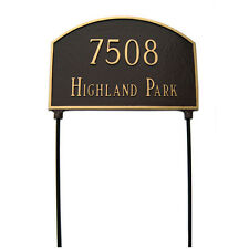 Montague Metal Products Inc. Prestige Arch Two Sided Lawn Address Sign