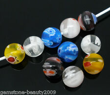 Wholesale HX Mixed Millefiori Glass Lampwork Beads 8mm