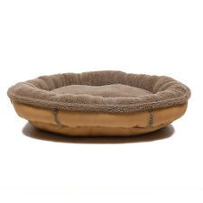 Zoey Tails Faux Suede Oblong Comfy Cup Donut Dog Bed