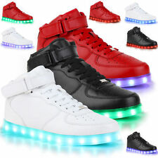 Lovers LED Night Light Unisex Luminous Sportswear Trainer Lace Up Shoes Sneakers