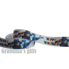 "1""25mm HAPPY BIRTHDAY Printed Grosgrain Ribbon 10/50/100 Yards Hairbow Wholesale"