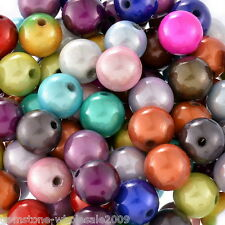 Wholesale Lots Mixed Miracle Acrylic Round Spacer Beads 12mm