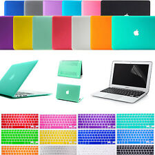 "Hard Matte Case Keyboard Cover Screen Protector For MacBook Air 11"" 13"" Pro 13"