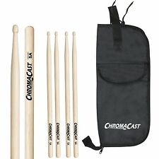 ChromaCast USA Hickory Drumsticks with ChromaCast Drumstick Bag