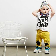 2pcs Newborn Toddler Baby Boys Outfits T-shirt Tops+Pants Kids Clothes Set