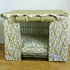 BowhausNYC Damask Dog Crate Cover